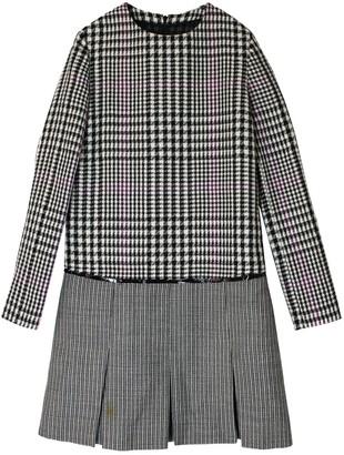 Saint Laurent Grey Wool Dress for Women Vintage