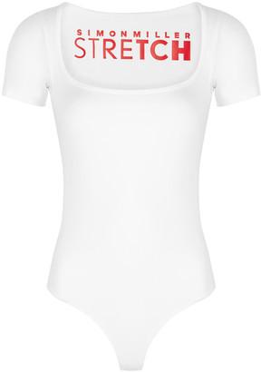 Simon Miller Eero White Stretch-jersey Bodysuit