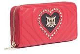 Moschino Jc5525 150a Red/black Zip Around Wallet.