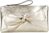 RED Valentino bow detail clutch bag - women - Calf Leather - One Size