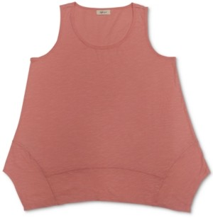 Style&Co. Style & Co Handkerchief-Hem Tank Top, Created for Macy's