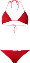Oseree - lurex bikini set - women - Polyamide/Polyester/Spandex/Elastane - S