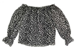 INC International Concepts Inc Petite Animal-Print Off-The-Shoulder Top, Created for Macy's