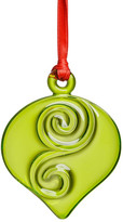 Kosta Boda Orrefors Holly Days Lime Christmas Bulb Ornament