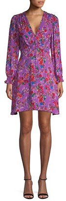 Saloni Floral-Print Mini Dress