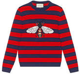 Gucci Striped wool sweater with bee