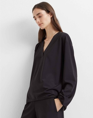 Club Monaco Swingy V-Neck Top