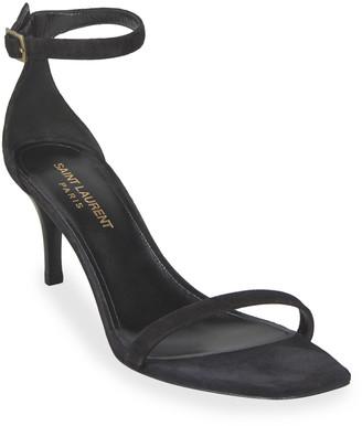 Saint Laurent Lexi Kitten-Heel Sandals