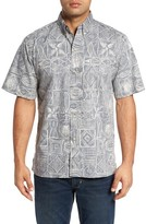Reyn Spooner Men's Seaside Tapa Classic Fit Print Sport Shirt