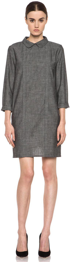A.P.C. Chambray Dress in Black Multi