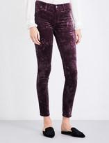 J Brand 815 super-skinny velvet jeans