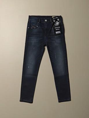 Diesel Skinny Fit Denim Jeans With Micro Breaks