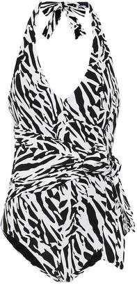 Diane von Furstenberg Elena tiger-print swimsuit