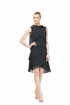 SL Fashions Women's Plus-Size Multi-Tier Dress