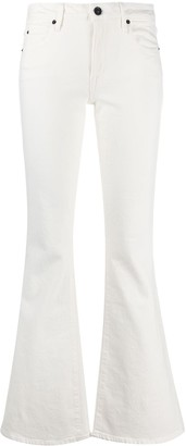 SLVRLAKE High-Waisted Flared Jeans