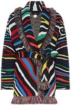 Alanui Zebra wool-blend cardigan