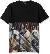 Zoo York Men's Short Sleeve Centralized Block Crew Knit Shirt