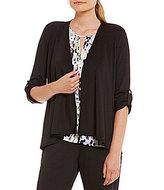 Kasper Knit Concepts Tab-Sleeve Cardigan Jacket
