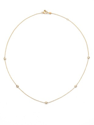 """Roberto Coin Diamond & 18K Yellow Gold Station Necklace/18"""""""