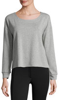 Splendid Varsity Active Cross-Back Top, Heather Gray