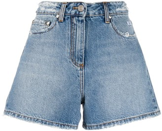 MSGM High-Waisted Denim Shorts