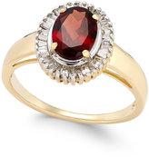 Macy's Rhodolite Garnet (1-1/2 ct. t.w.) and Diamond (1/3 ct. t.w.) Ring in 14k Gold