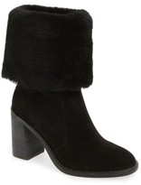 Arturo Chiang Women's 'Maira' Genuine Shearling Cuff Boot