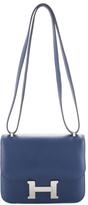 Hermes Sapphire Veau Swift Constance Mini Shoulder Handbag