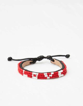 aerie UBUNTU LIFE(RED) Leather Love Bracelet