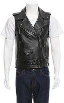 Philipp Plein Leather Moto Vest