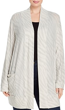 Bobeau B Collection By Curvy B Collection by Curvy Jerry Zebra Open-Front Cardigan