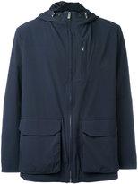Eleventy hooded jacket - men - Polyamide/Spandex/Elastane/Cupro - S