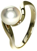 Mikimoto 18K Yellow Gold Pearl Ring Size 6.25