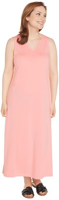 AnyBody Petite V-Neck Cozy Knit Maxi Dress