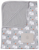 John Lewis Elephant Swaddle Blanket, Grey