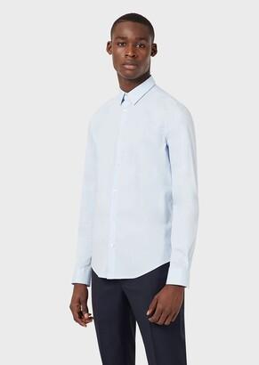 Emporio Armani Stretch Cotton Canvas Shirt