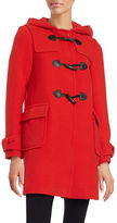 Kate Spade Hooded Wool-Blend Mid Length Toggle Coat