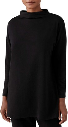 Eileen Fisher Funnel Neck Tunic Sweater