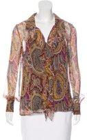 Tibi Silk Button-Up Top w/ Tags