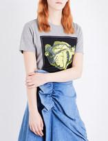 J.W.Anderson Lettuce-print cotton-jersey T-shirt