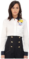 Love Moschino Long Sleeve Button Up w/ Pocket Girl Detail