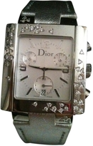 Christian Dior Silver Leather Watch