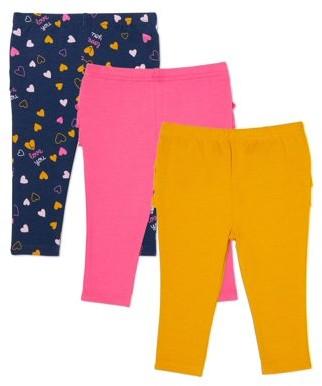 Garanimals Baby Girl Ruffle Leggings, 3-Pack