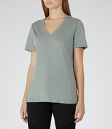 Reiss Lacey Metallic-Sheen T-Shirt