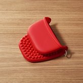 "Crate & Barrel Silicone Red 4"" Pinch Mitt"