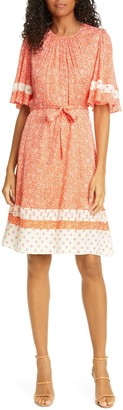 Rebecca Taylor Floral Jacquard Silk Blend Dress