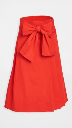 Tory Burch Cotton Wrap Skirt