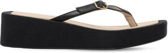 Jacquemus 50mm Les Tatanes Leather Thong Sandals