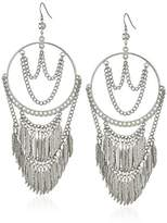 GUESS Feather Stone Drop Earrings