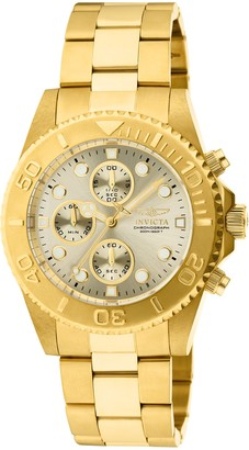 Invicta 1774 Pro Diver Men's Wrist Watch Stainless Steel Quartz Champagne Dial